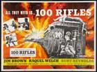 100 Rifles - 11 x 17 Movie Poster - UK Style A