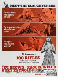 100 Rifles - 11 x 17 Movie Poster - Style B