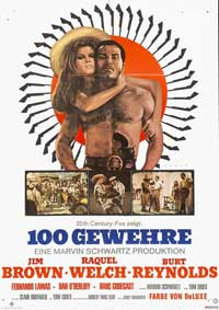 100 Rifles - 11 x 17 Movie Poster - German Style B
