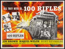 100 Rifles - 27 x 40 Movie Poster - UK Style A