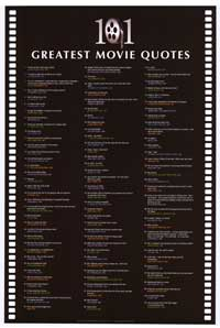 101 Greatest Movie Quotes - Inspirational Posters - 24 x 36 - Style A