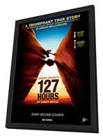 127 Hours - 27 x 40 Movie Poster - Swiss Style A - in Deluxe Wood Frame