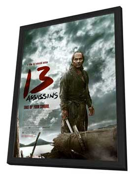 13 Assassins - 27 x 40 Movie Poster - Style A - in Deluxe Wood Frame