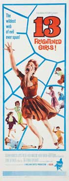 13 Frightened Girls - 14 x 36 Movie Poster - Insert Style A