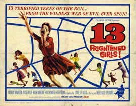 13 Frightened Girls - 22 x 28 Movie Poster - Half Sheet Style A