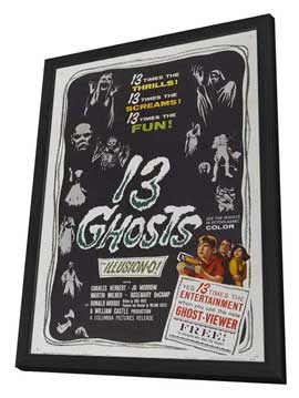 13 Ghosts - 11 x 17 Movie Poster - Style B - in Deluxe Wood Frame