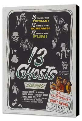 13 Ghosts - 11 x 17 Movie Poster - Style B - Museum Wrapped Canvas