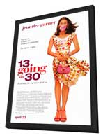 13 Going On 30 - 27 x 40 Movie Poster - Style A - in Deluxe Wood Frame