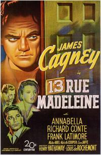13 Rue Madeleine - 11 x 17 Movie Poster - Style A