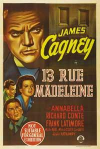 13 Rue Madeleine - 11 x 17 Movie Poster - Style B