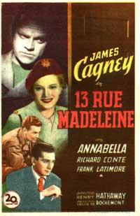 13 Rue Madeleine - 11 x 17 Movie Poster - Style C