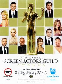 14th Annual Screen Actors Guild Awards - 11 x 17 Movie Poster - Style A