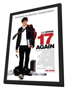 17 Again - 27 x 40 Movie Poster - Style A - in Deluxe Wood Frame