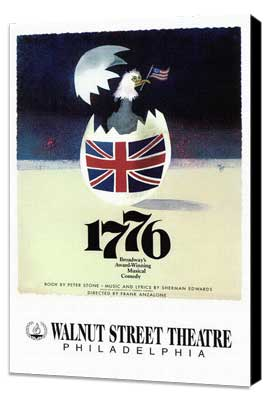 1776 (Broadway) - 11 x 17 Poster - Style B - Museum Wrapped Canvas