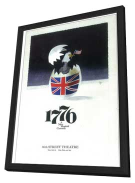 1776 (Broadway) - 11 x 17 Poster - Style A - in Deluxe Wood Frame