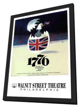 1776 (Broadway) - 11 x 17 Poster - Style B - in Deluxe Wood Frame