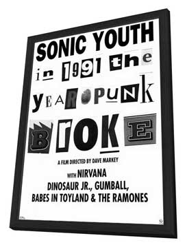 1991: The Year Punk Broke - 11 x 17 Movie Poster - Style A - in Deluxe Wood Frame