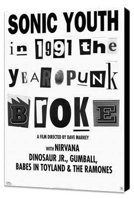 1991: The Year Punk Broke - 11 x 17 Movie Poster - Style A - Museum Wrapped Canvas