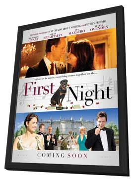 1st Night - 11 x 17 Movie Poster - UK Style A - in Deluxe Wood Frame