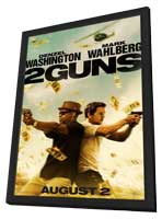 2 Guns - 11 x 17 Movie Poster - Style A - in Deluxe Wood Frame