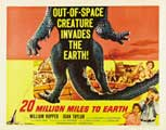 20 Million Miles to Earth - 22 x 28 Movie Poster - Half Sheet Style A