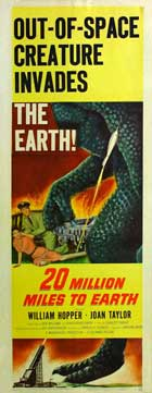 20 Million Miles to Earth - 14 x 36 Movie Poster - Insert Style A