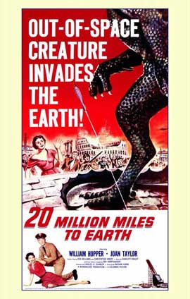 20 Million Miles to Earth - 11 x 17 Movie Poster - Style A