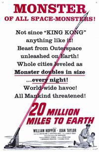 20 Million Miles to Earth - 11 x 17 Movie Poster - Style B