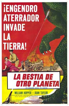 20 Million Miles to Earth - 11 x 17 Movie Poster - Spanish Style A