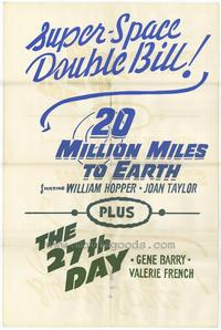 20 Million Miles to Earth - 11 x 17 Movie Poster - Style C