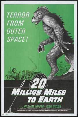 20 Million Miles to Earth - 27 x 40 Movie Poster - Style D