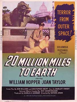 20 Million Miles to Earth - 11 x 17 Movie Poster - Style F