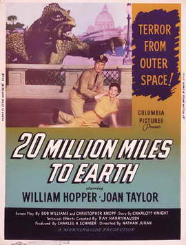 20 Million Miles to Earth - 27 x 40 Movie Poster - Style E