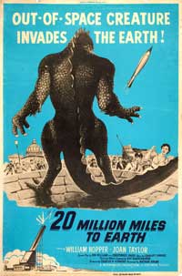 20 Million Miles to Earth - 27 x 40 Movie Poster - Style F