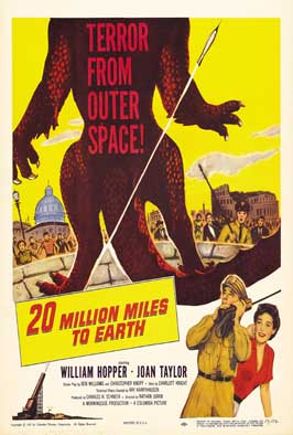 20 Million Miles to Earth - 27 x 40 Movie Poster - Style H