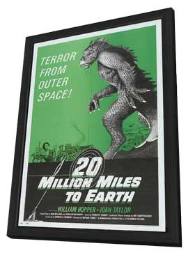 20 Million Miles to Earth - 11 x 17 Movie Poster - Style E - in Deluxe Wood Frame