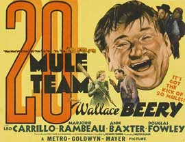 20 Mule Team - 22 x 28 Movie Poster - Half Sheet Style A