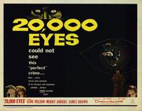 20,000 Eyes - 22 x 28 Movie Poster - Half Sheet Style A