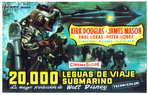 20,000 Leagues Under the Sea - 27 x 40 Movie Poster - Spanish Style B