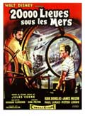 20,000 Leagues Under the Sea - 11 x 17 Movie Poster - French Style A