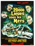20,000 Leagues Under the Sea - 27 x 40 Movie Poster - French Style B