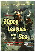 20,000 Leagues Under the Sea - 27 x 40 Movie Poster - Style B