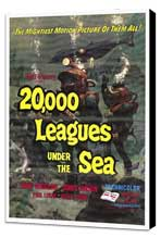 20,000 Leagues Under the Sea - 27 x 40 Movie Poster - Style A - Museum Wrapped Canvas