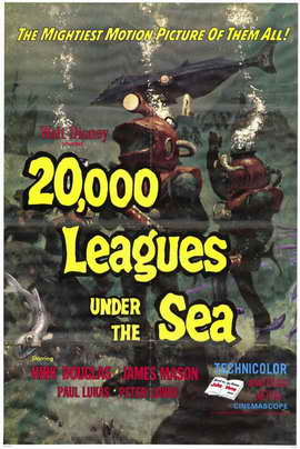 20,000 Leagues Under the Sea - 11 x 17 Movie Poster - Style A