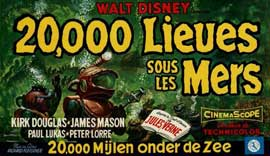 20,000 Leagues Under the Sea - 11 x 17 Movie Poster - Belgian Style A