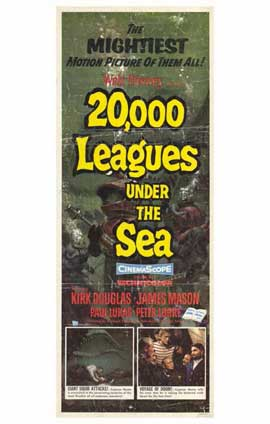20,000 Leagues Under the Sea - 11 x 17 Movie Poster - Style B