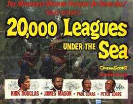 20,000 Leagues Under the Sea - 22 x 28 Movie Poster - Half Sheet Style A