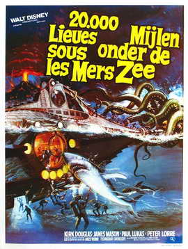20,000 Leagues Under the Sea - 27 x 40 Movie Poster - Belgian Style B