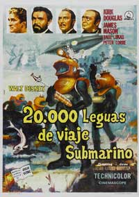 20,000 Leagues Under the Sea - 11 x 17 Movie Poster - Spanish Style A
