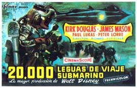 20,000 Leagues Under the Sea - 11 x 17 Movie Poster - Spanish Style B